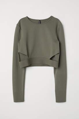 H&M Short Jersey Top - Green