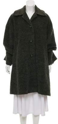 Cinzia Rocca Alpaca Blend Knee-Length Coat