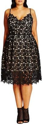 Plus Size Women's City Chic So Fancy Lace Dress $119 thestylecure.com