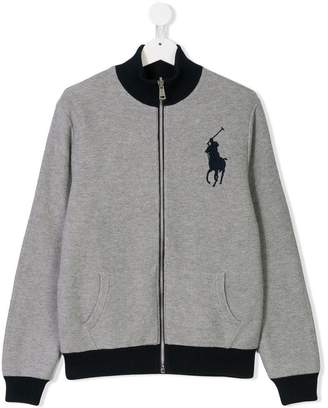Ralph Lauren TEEN logo embroidered zip jacket