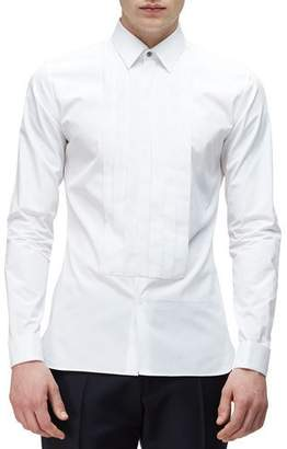 Burberry Long-Sleeve Formal Tuxedo Shirt, White