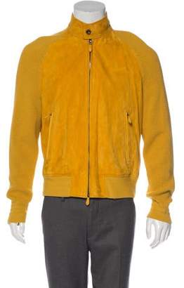 Tom Ford Suede Knit-Trimmed Jacket w/ Tags