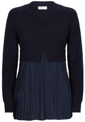 Claudie Pierlot Pleat Panel Sweater