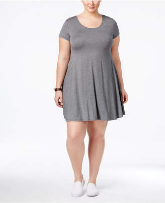 Style&Co. Style & Co Plus Size Short-Sleeve Swing Dress, Created for Macy's