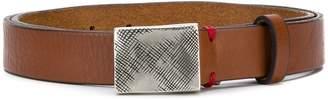 Eleventy distressed buckle belt