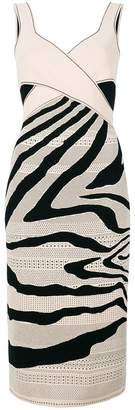 Roberto Cavalli zebra cut-out dress