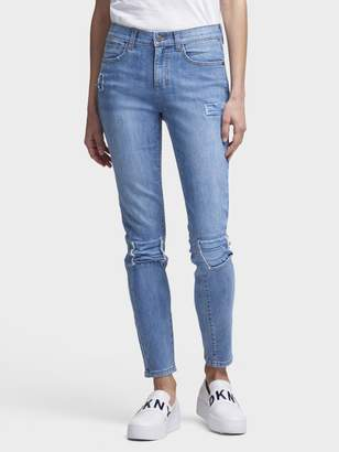 DKNY The Soho Skinny Jean-Studded & Patched