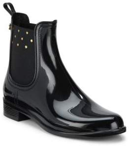 Star Printed Ankle-Length Rain Boots $64 thestylecure.com