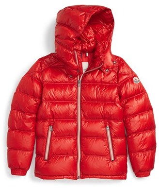 Boy's Moncler 'Gaston' Hooded Down Jacket $485 thestylecure.com