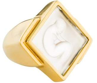 Lalique Crystal Ondine Ring