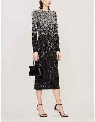 Givenchy Metallic sequinned crepe dress