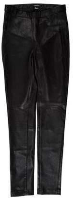 LaMarque Collection Leather Mid-Rise Leggings w/ Tags