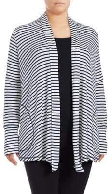 Tommy Hilfiger Plus Stripe Lounge Cardigan