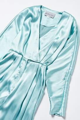 Urban Renewal Vintage Blue Satin Jumpsuit