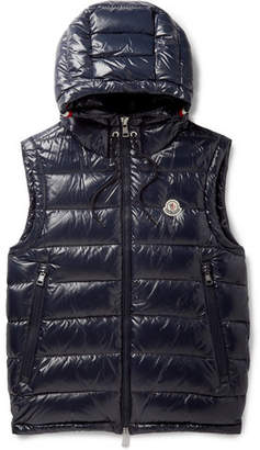Moncler Lanoux Quilted Shell Hooded Down Jacket
