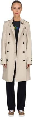 Burberry Kensington Long Cotton Trench Coat