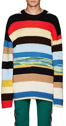 Calvin Klein Men's Quilt-Knit Wool-Cotton Oversized Sweater - Black