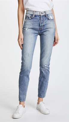Current/elliott Woman Distressed Boyfriend Jeans Light Denim Size 30 Current Elliott VC9eT1l