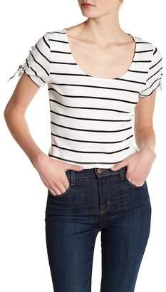 Lush Short Sleeve Knit Cropped Tee