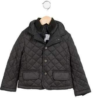 Armani Junior Boys' Quilted Zip-Up Coat
