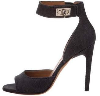 Givenchy Denim Ankle-Strap Sandals