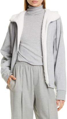 Vince Front Zip Fleece Lined Hoodie