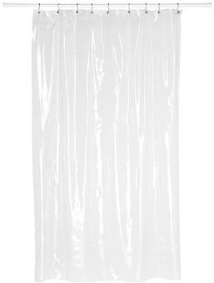 Carnation Home Fashions Super Clear 10-Gauge Anti Mildew Stall Size Vinyl Shower Curtain Liner