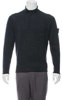 Stone Island Wool Mock Neck Sweater