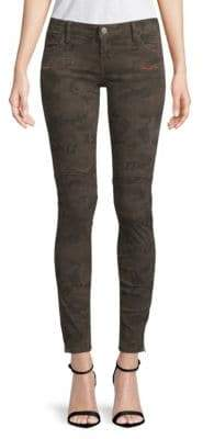 Moto Camouflage Jeans
