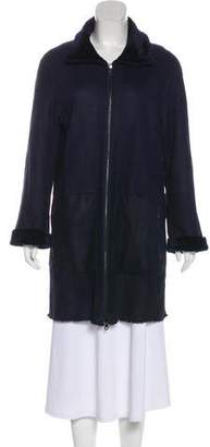 Yves Salomon Leather Short Coat