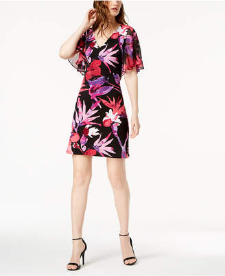 Connected Floral-Print Sheath Dress, Regular & Petite