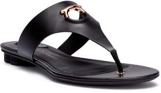 Salvatore Ferragamo Enfola black leather sandals