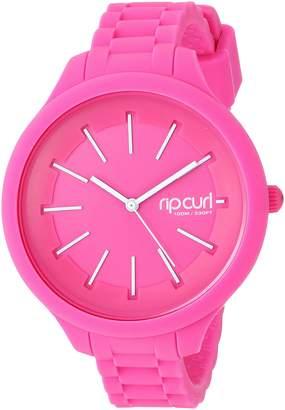 Rip Curl Women's 'Horizon' Quartz Plastic and Silicone Sport Watch, Color:Pink (Model: A2803G-PNK)