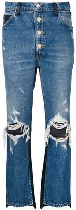 Amiri two-tone ripped jeans