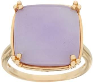 Jade Bold Cushion Cut Ring 14K Gold