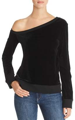 fa6d07c8035 N. philanthropy PHILANTHROPY Walker One-Shoulder Velour Sweatshirt