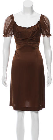 Alberta Ferretti Alberta Ferretti Silk Pleated Dress