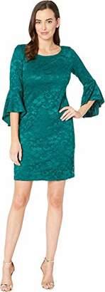 Nine West Women's Lace Peplum Sleeve T-Shirt Dress
