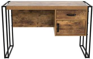 Gracie Oaks Caspian Industrial Rectangular Writing Desk