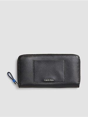 Calvin Klein Calvin Klein Womens Julienne Leather Large Zip Wallet Black