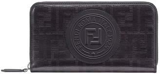 Fendi zip-around FF logo wallet