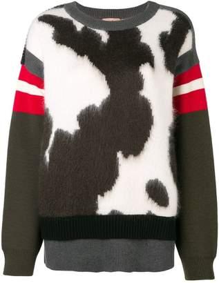 No.21 cow printed jumper