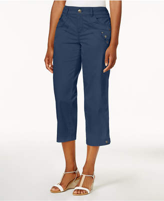 Style&Co. Style & Co Tab-Pocket Capri Pants, Created for Macy's