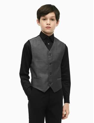 Calvin Klein boys birdseye button-front vest