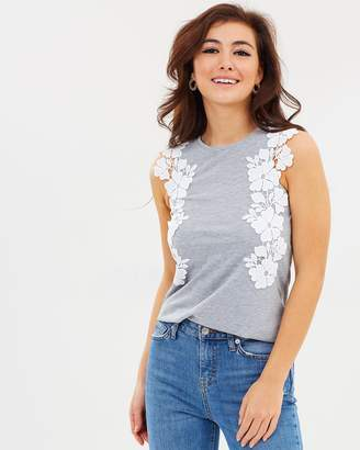 Dorothy Perkins Lace Trim Shell Top