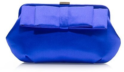 Satin derby clutch