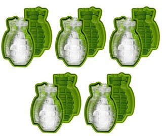 Fairly Odd Novelties Grenade Ice Cube Mould, 5 Pack