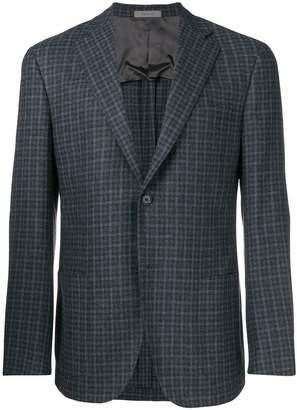Corneliani plaid suit jacket