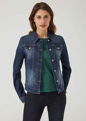 Emporio Armani Stone Washed Denim Jacket