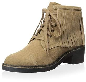House Of Harlow Women's Cutler Lace up Ankle Boot with Fringes